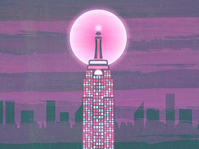 Tokyo Empire purple pink skyline city building state empire tokyo tower