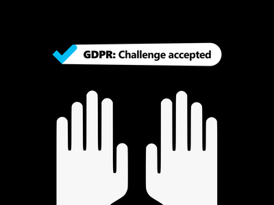 Microsoft Digital Campaign Keyvisual. GDPR: Challenge accepted gdpr linkedin facebook campaign advertising microsoft digital campaign greece minimal