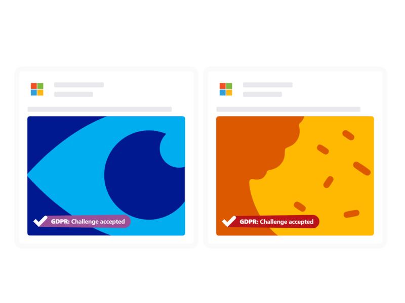 Microsoft GDPR: Challenge Accepted. Art direction shots gdpr facebook social media art director art direction digital campaign design microsoft