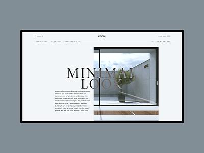 First Look. Elvial new website typography website user experience design simplicity website design greece web design user interface design ux design minimal