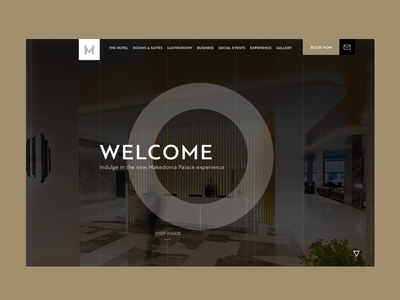 Makedonia Palace Hotel: The launch screen greek greece thessaloniki user experience design user interface design simplicity minimal website hotel uxui design web design