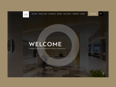 Makedonia Palace Hotel: The launch screen