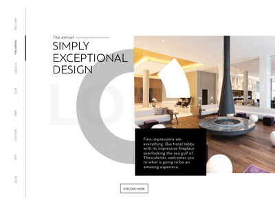 Makedonia Palace: Home interaction shot ui greek ux website design typography ux design user interface design user experience design greece hotel thessaloniki website simplicity minimal web design
