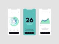 Blossom app. Modal screens