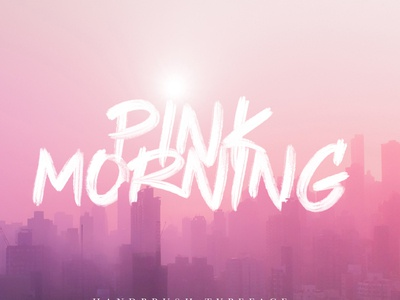 Pink Morning procreate letter design lettering goodtype brand branding typography