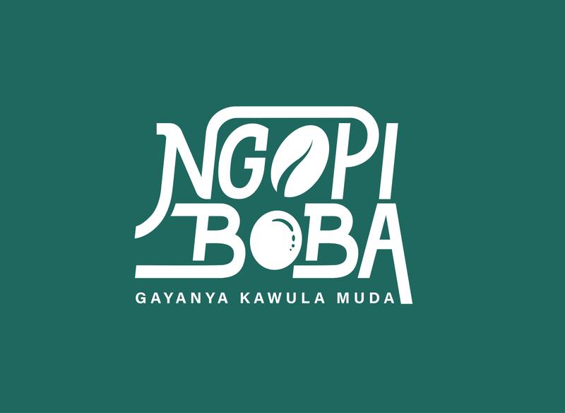 logo for Ngopi Boba procreate letter design lettering brand goodtype typography branding