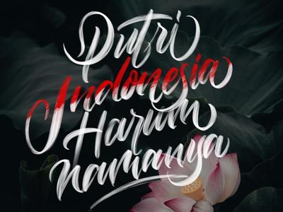 Putri Indonesia procreate letter design lettering goodtype brand typography branding