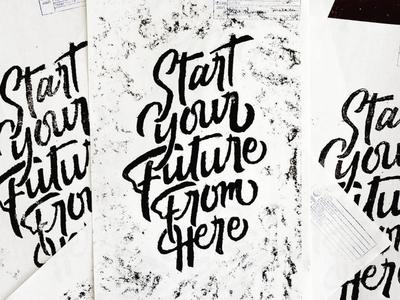 Start Here typegang logo procreate letter design lettering goodtype brand typography branding
