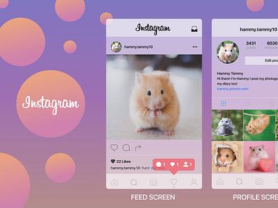 Instagram recreate bubbly icons glassmorphism gradient recreate ux design ui