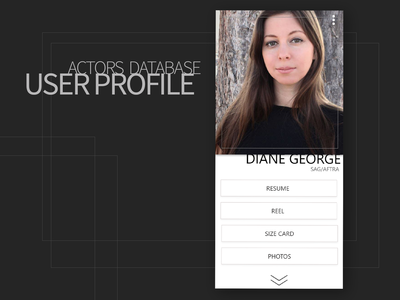 Actors Database User Profile