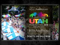 Advertisement for the Utah Pride Festival - 2016