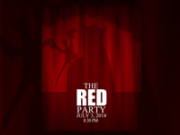 The Red Party Queen Poster