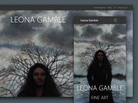 Fine Art Portfolio - Responsive Website