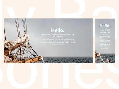 The Billy Bare Bones Bootstrap Page