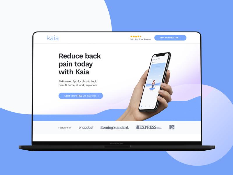 Health App Landing Page Design grid gradient concept design layout website landing web ux ui app conversion design