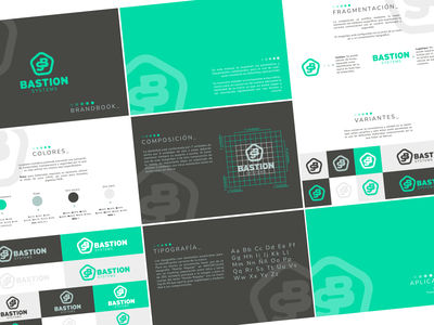 Bastion Systems brandguide guide black company green security software brand identity brand branding