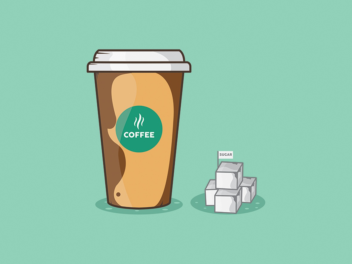 Coffee cup flat design