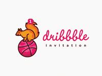 Squirrel Dribbble Invitation