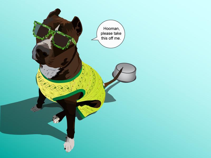 Dog Vector Drawing vectorartwork vector illustration vector art pitbull dog art dog illustration dog illustrator illustration