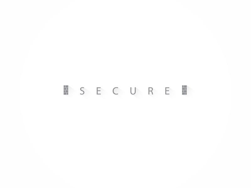 Secure minimal secure delhi india typeface type icon logo