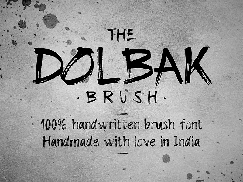 The Dolbak Brush texture raw grunge handwritten free font typeface design brush font