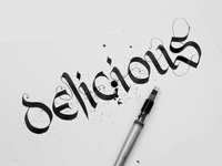 Delicious | Lettering | Calligraphy