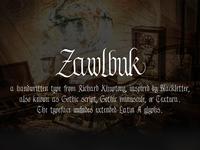 Zawlbuk Typeface
