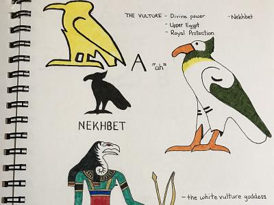 IMG 3254 vulture art history hieroglyphics illustration