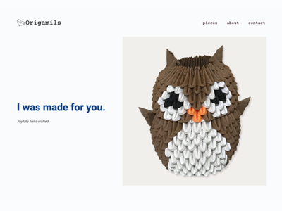 Origamils responsive css html adobe photoshop