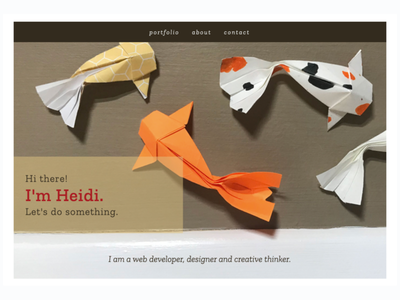 Heidi Fryzell - Portfolio responsive portfolio