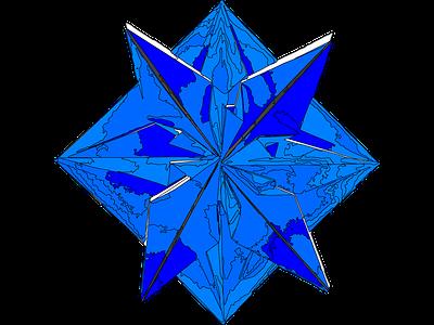 Origami Blue Star Strokes star blue origami
