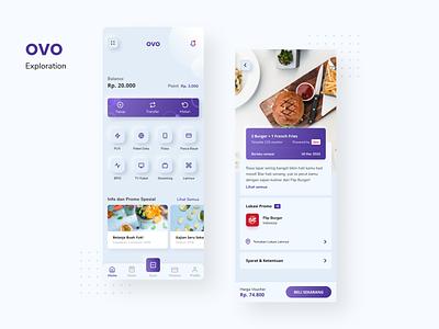 Ovo Exploration - Wallet neumorphism ui design ui ux wallet payment ovo mobile app