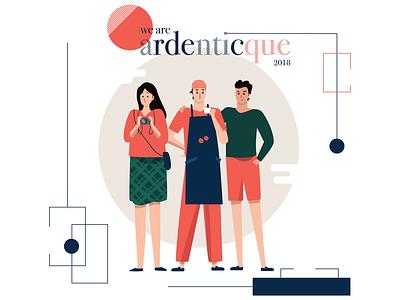 Ardentic illustration ardent design millennials digital painting