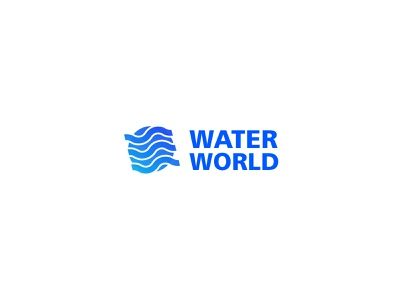 Water world logo minimal animation website logo illustration ux brand ui illustrator identity design branding