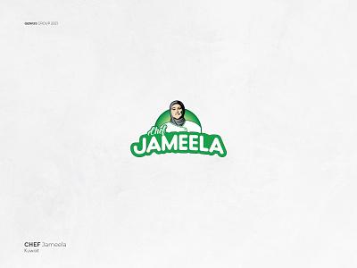 Chef Jameela logo Design illustrator logo branding