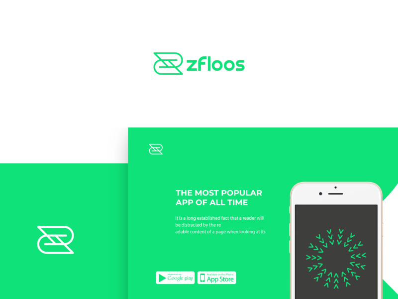 Zfloos Logo type mobile lettering illustrator icon app animation website web vector ui ux typography minimal logo illustration identity flat design branding