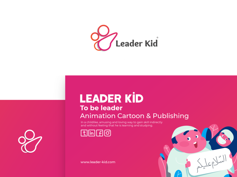 Leader Kid Logo & Brand clean brand blue art type illustrator animation website vector web ux ui typography minimal logo illustration identity flat design branding