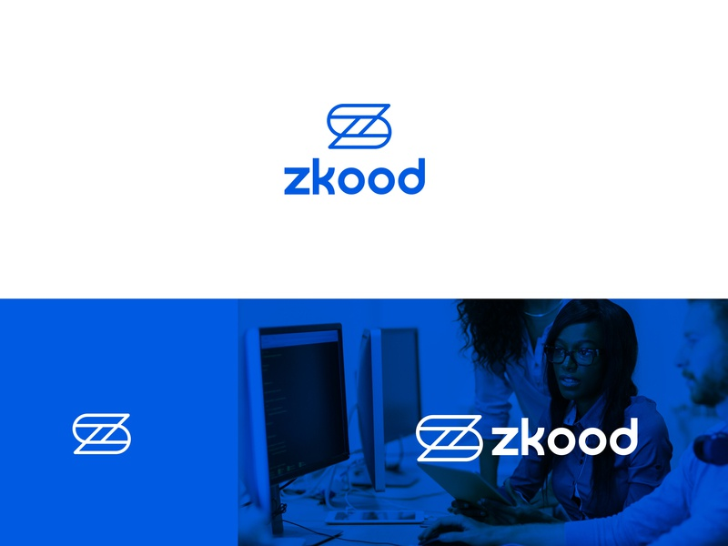 Zkood Brand identity clean blue animation ios mobile brand app type website web vector ui ux logo illustrator illustration identity flat design branding