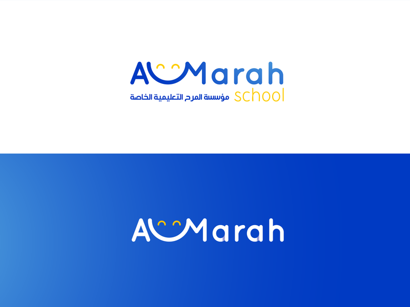 Almarah School logo & Brand web mobile character graphic design lettering brand website type minimal typography animation vector ux ui logo illustrator illustration identity design branding