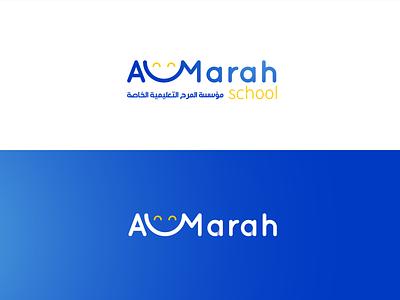 Almarah School logo & Brand web mobile character graphic design lettering brand website type minimal typography animation vector ux ui logo illustrator illustration identity design branding