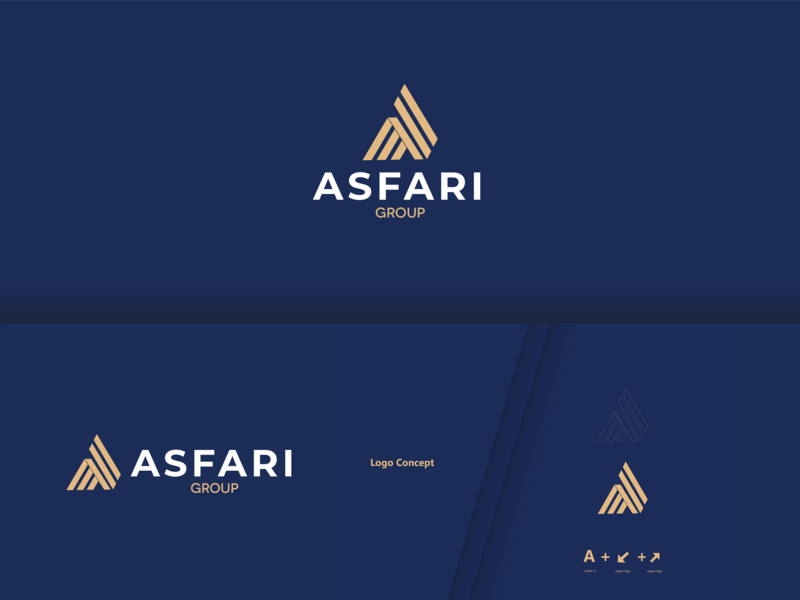 Asfari brand identity clean app web animation flat website art ui ux vector typography brand blue minimal logo illustrator illustration identity design branding