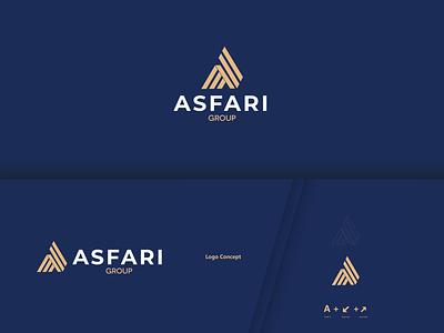 Asfari brand identity clean app web animation flat website art ui ux vector typography brand blue minimal logo illustrator illustration identity design branding