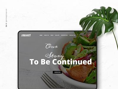 syriously restaurant website webdesign brand website ui ux illustration logo illustrator identity design branding