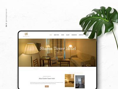 Shahin hotel web design hotel website design webdesign app icon animation type brand website ux ui identity design branding