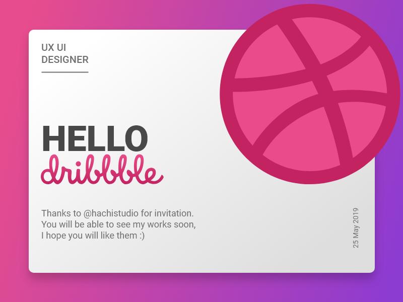 Hello Dribbble! invite illustration ui