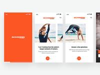 Fitness App ( Onboarding & Login Screen)