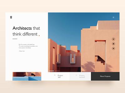 Architect Firm - Landing Page landing web deisgn webdesign building house minimal clean simple arhitecture architects