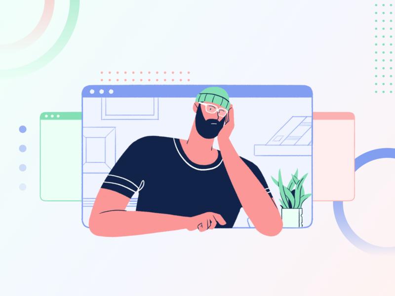 So Much Work illustrator vector cute simple work designer person iilustration