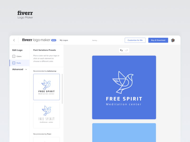 Logo Maker vector bird minimal website uiux ui color fiverr maker logo