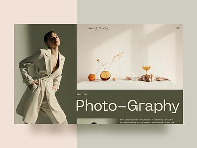 Photography Studio clean typography minimal landingpage webdesig website photo art design photography